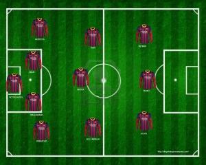 alineación barcelona 14 jornada