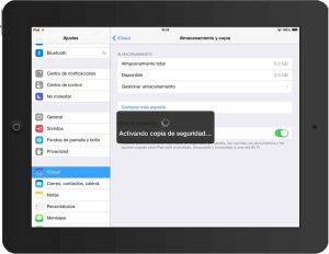 realizando copia seguridad iCloud