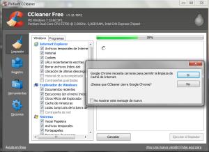 Cerrar Chrome CClenear