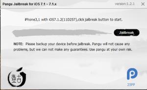 Pungu Jailbreak iOS 7.1 - 7.1.2