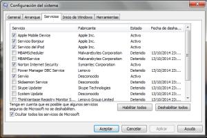 Servicios de Windows